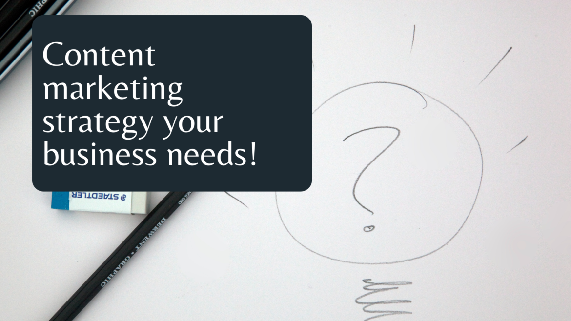 Let's develop a content marketing strategy for your business!